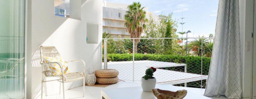 Long term rental Ibiza - Patio Blanco Ocean Beach