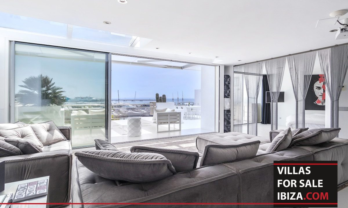 long term rental ibiza Penthouse white dream