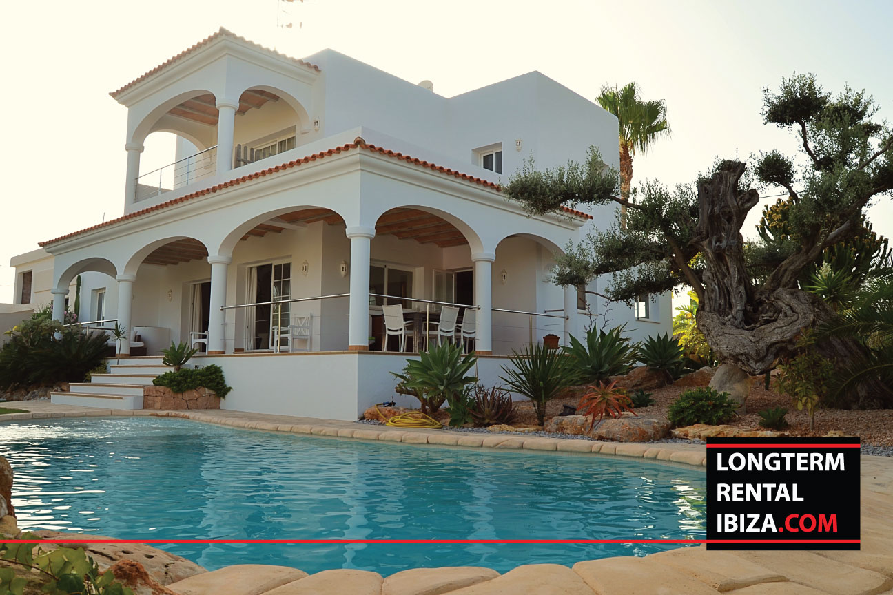 Villa Garden long term rental ibiza